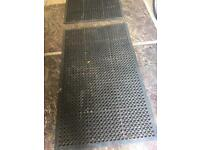 2 rubber mats for work shop or children's play etc