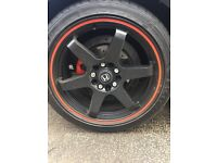 "honda fn2 18"" wolfrace wheels and tyres 114.3 pcd"