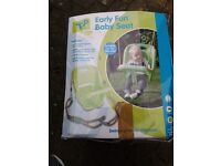 Baby swing for an outdoor play frame