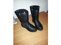 black safety boots size 9
