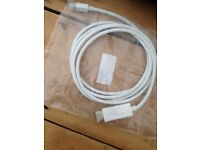 Thunderbolt to HDMI cable for plugging in mac to flat screen tv