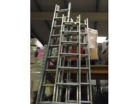 Aluminium ladders - double and triple 1.6 to 4.2m