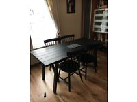 Brand new IKEA RYGGESTAD Dining table with 6 chairs for sale