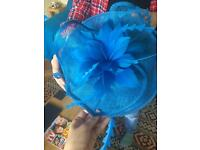 Mother of the bride blue fascinator new with tags