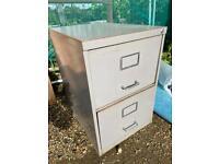 2 Drawer Filing cabinet- Grey