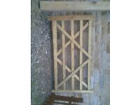 Wooden 5 bar gate with post