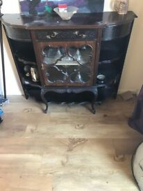Elegant dark wood cabinet