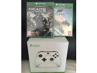 XBOX ONE GAMES - GEARS OF WAR 4 / WHITE CONTROLLERS - BRAND NEW & SEALED