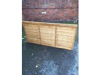 3 X WICKES OVERLAP FENCE PANEL 3FT X 6FT. BARGAIN AT £35