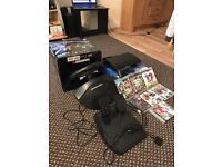PS3 500gb+ gaming steering wheel + games