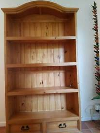 Rustic pine bookcase / shelving unit