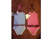 Brand new girls age 4 two-piece swimming costumes