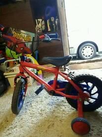 Spiderman boys bike