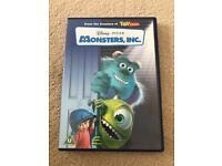 DISNEY PIXAR MONSTERS INC DVD
