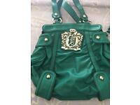 Women's green guess handbag