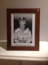 NEW Shiny Brown Wood Photo Frame for Table - £5 only