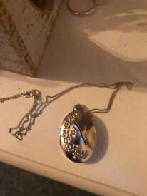 Real silver locket