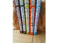 Diary of a wimpy kid x5 hard cover books