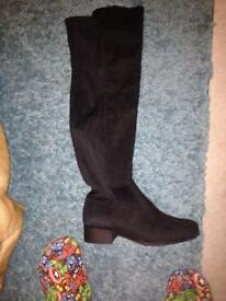 Size 9 over knee boots