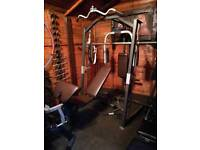 Olympic Smith machine Marcy with pec deck pulley bench