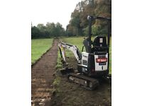 Mini Digger and Driver (operator) Hire Services (CPCS card, insurance) mob 07533152248