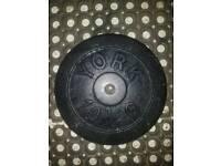 York cast iron weight plates 4×10kg