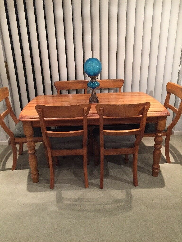 Oak Dining Table And 6 Chairs Price Reduction In