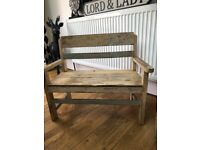 Child bench and chair set vintage shabby chic distressed style