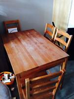 Dining Table + 4 chairs $50 must go