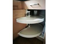 Kitchen Corner Carosel Shelves - complete, Excellent Cond