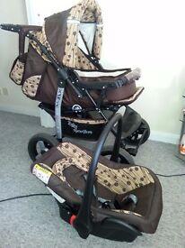 Baby pushchair + car seat