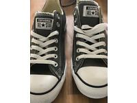 Brand New Grey Converse trainer shoes size 8.5 uk .Quick sale £25.00 selling for £50 in outlets