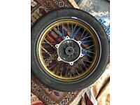 Yamaha Wr125x gold rims