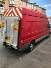 Ford transit T350 135bhp ex fire van with Scania tail lift very rare