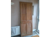 Stripped pine door - old PRICE DROP!