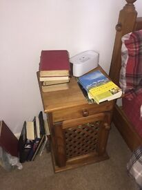 Bedside cabinets, solid pine originally extremely expensive