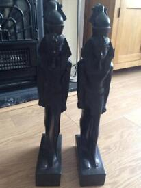 2 x Egyptian statues