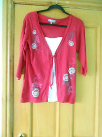 A red and white top size 10