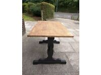 Rustic wooden dining/kitchen refectory table. shabby chic.