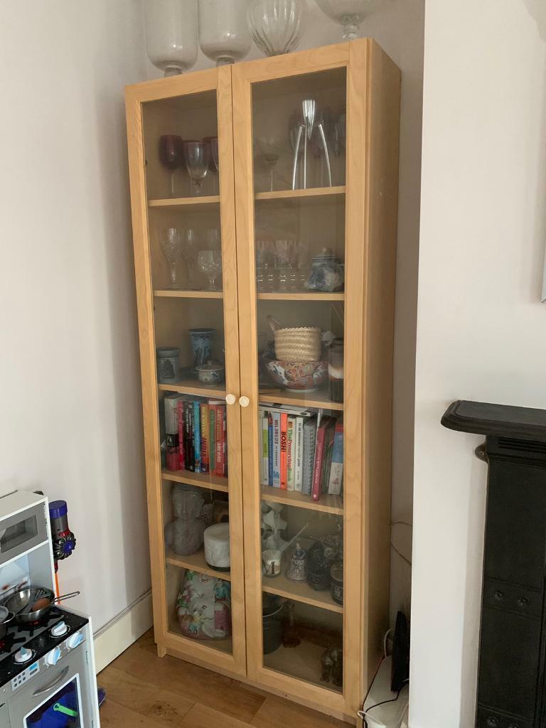 best service 6faac 544b7 IKEA Bookshelf Cabinet with Glass Doors | in Hanwell, London | Gumtree