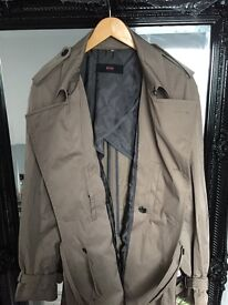 BRAND NEW HUGO BOSS AUTHENTIC Cotton trench coat with wrap belt