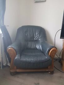 3, 2 and Single seater solid oak sofa for sale