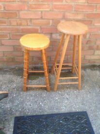 TWO BAR STOOLS £4 EACH