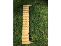 Garden log border / edging not used for £3 each