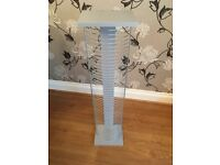 Chrome and silver 50 DVD rack