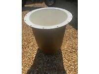 Large cast iron planter with stand - 58cm diameter & 56cm high