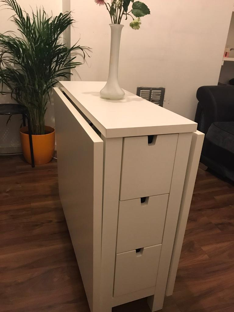 Ikea Norden Gateleg Table With 2 Chairs