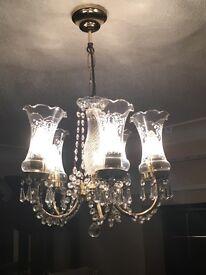 Two light fixtures (chandeliers) £30