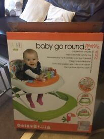Deluxe Electronic Baby Walker - Baby Go Round Red Kite Wizz - Nearly New