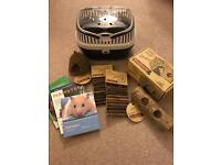 Hamster/Mouse/Gerbil carrier & accessories